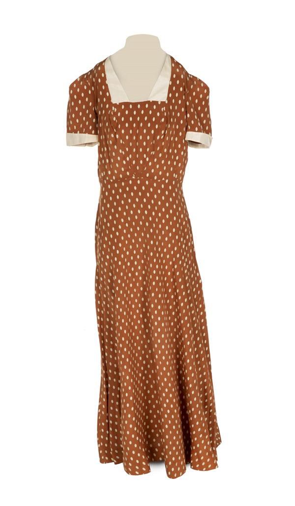 Mae West's 1940 custom made silk dress