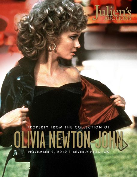 John Travolta Framed Olivia Newton Autograph Promo Print Grease