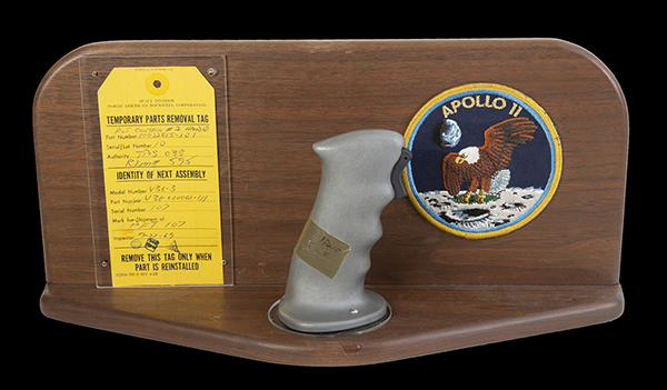 Pilot Control Stick used by Neil Armstrong on the Apollo 11 flight