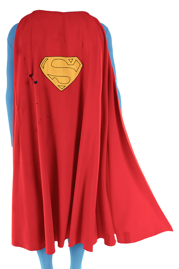Original Cape Worn by Christopher Reeve in Superman