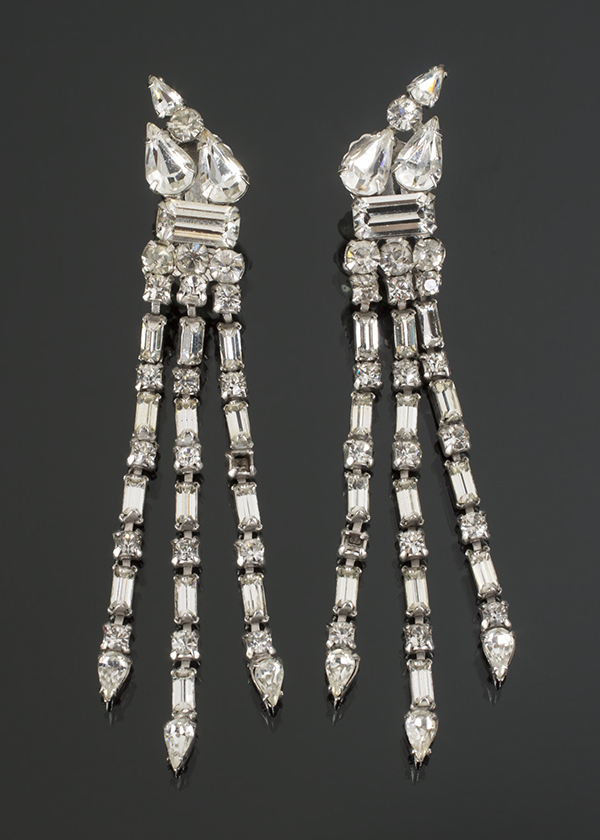 Marilyn Monroe Simulated Diamond Fringe Earrings