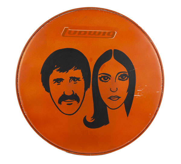 Ludwig drumhead from The Sonny and Cher Comedy Hour