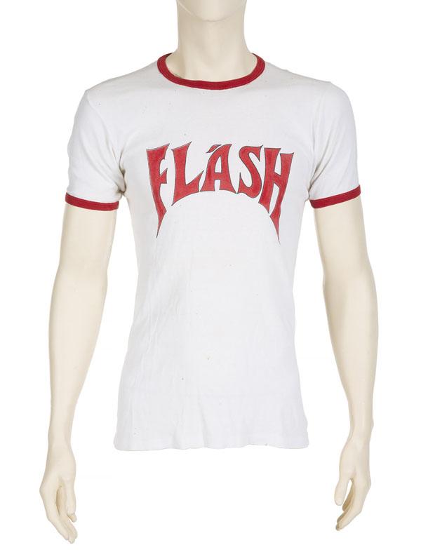 Freddie Mercury's 1981 stage worn Flash T-shirt
