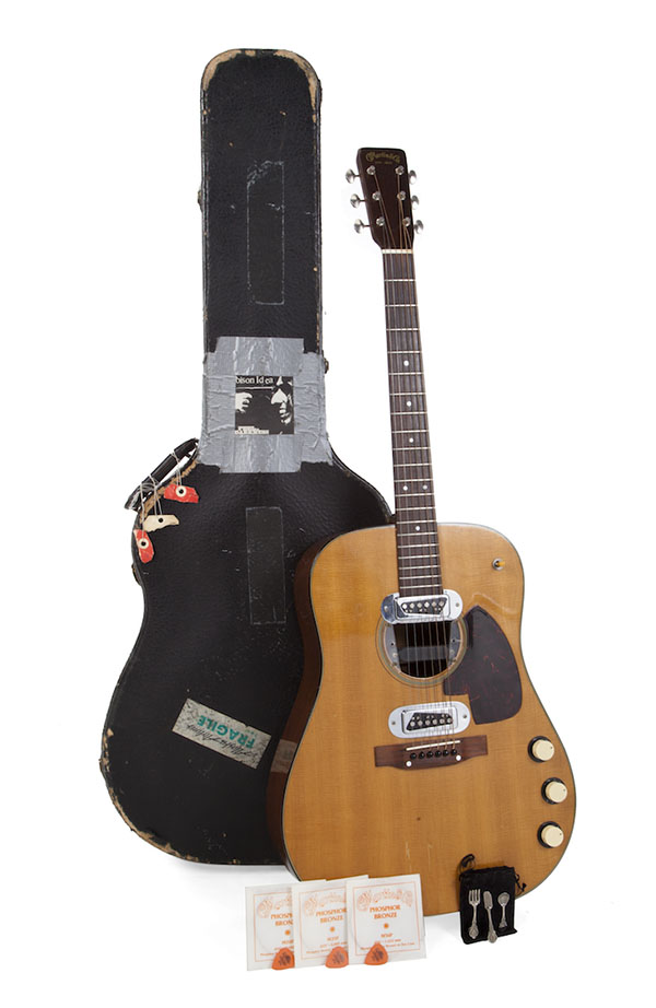 Kurt Cobain's 1959 Martin D-18E guitar and case