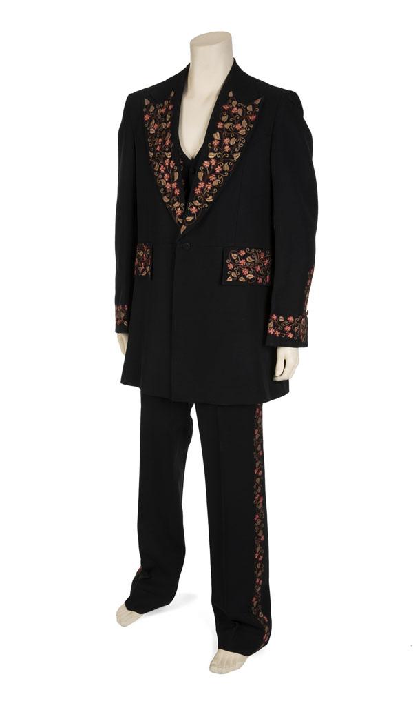 Johnny Cash worn three-piece black suit
