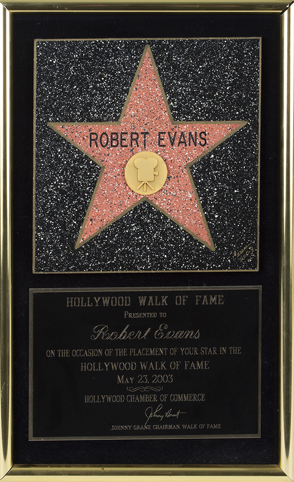 Robert Evans Hollywood Walk of Fame
