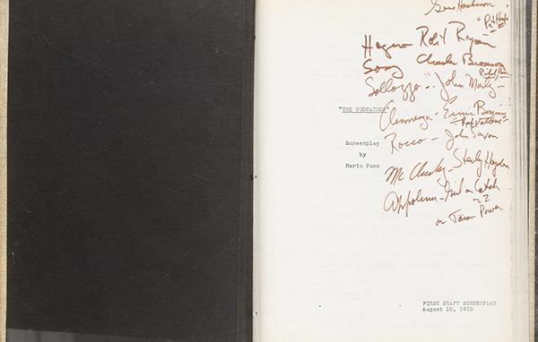 Robert Evans Godfather Script