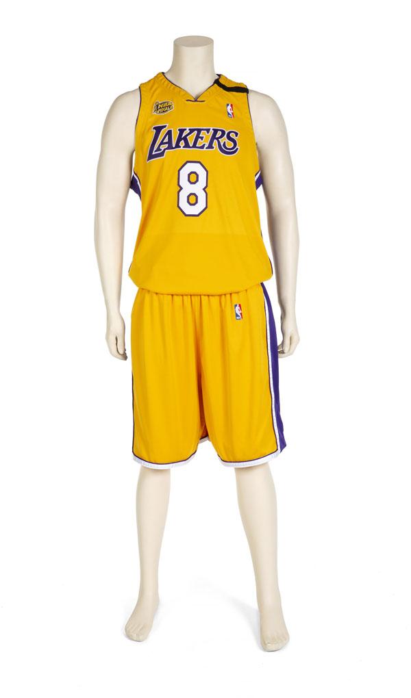 Kobe Bryant's Number 8 home uniform