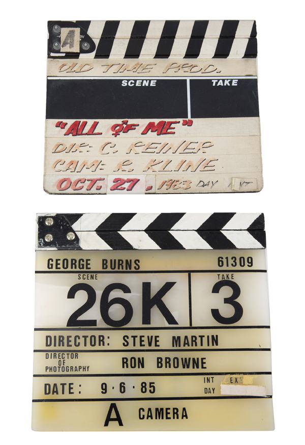 Steve Martin's clap boards