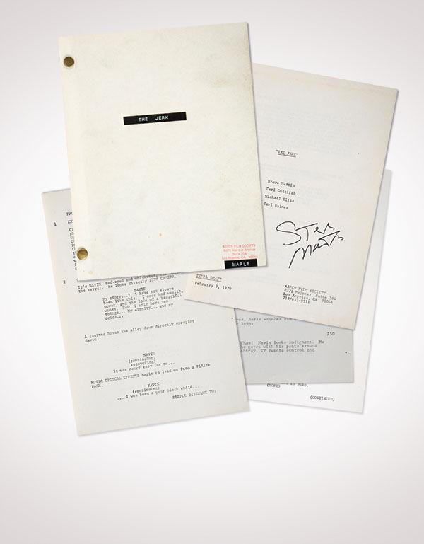 Steve Martin signed Script from The Jerk