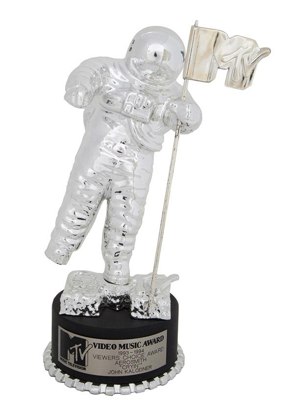 Aerosmith's 1993 MTV Video Music Award Moonman for Viewers Choice