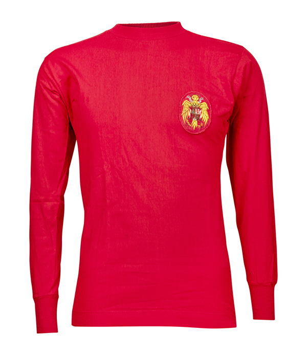 Di Stéfano's circa 1960s Spanish National Team jersey. Red Number 9