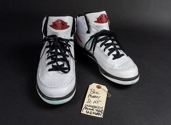Nike brand Air Jordan 2 sneakers worn by icon Bill Murray in the 1996 film Space Jam