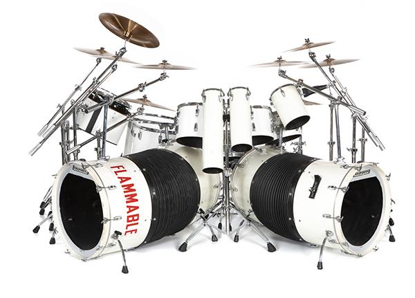 Alex Van Halen custom designed Ludwig Drum Kit