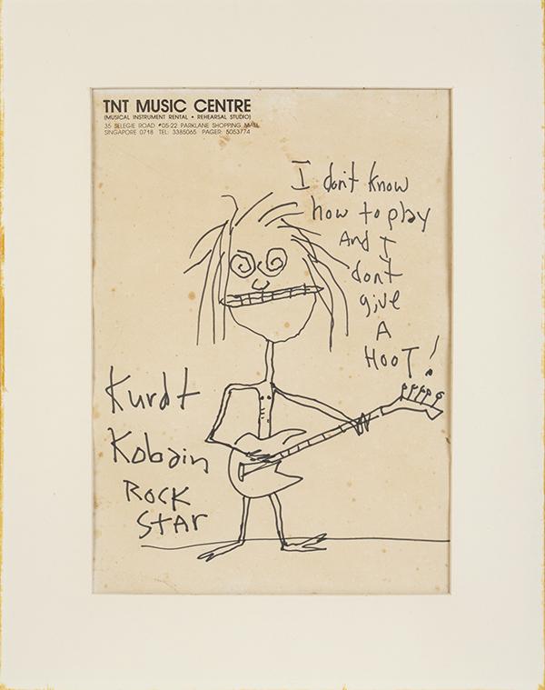 Kurt Cobain self-portrait caricature drawing
