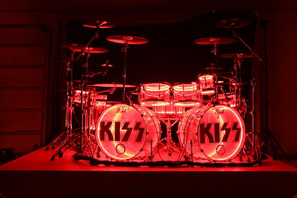 Eric Singer of KISS drum kit