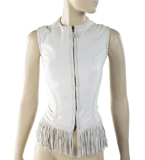"white leather Gianni Versace bodice worn by Destiny's Child while performing ""Survivor"""