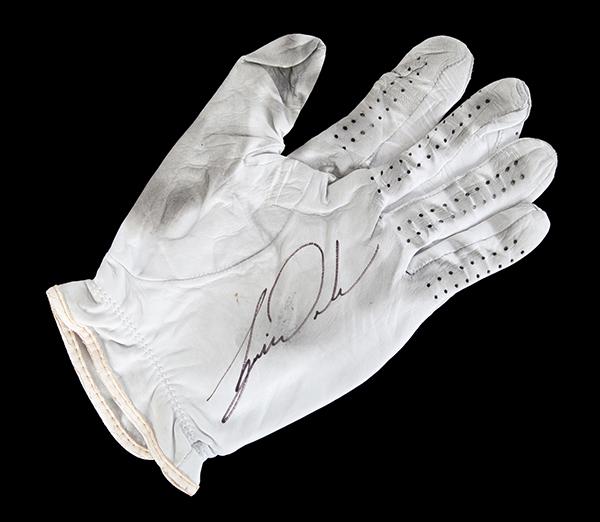 Tiger Woods' signed golf glove