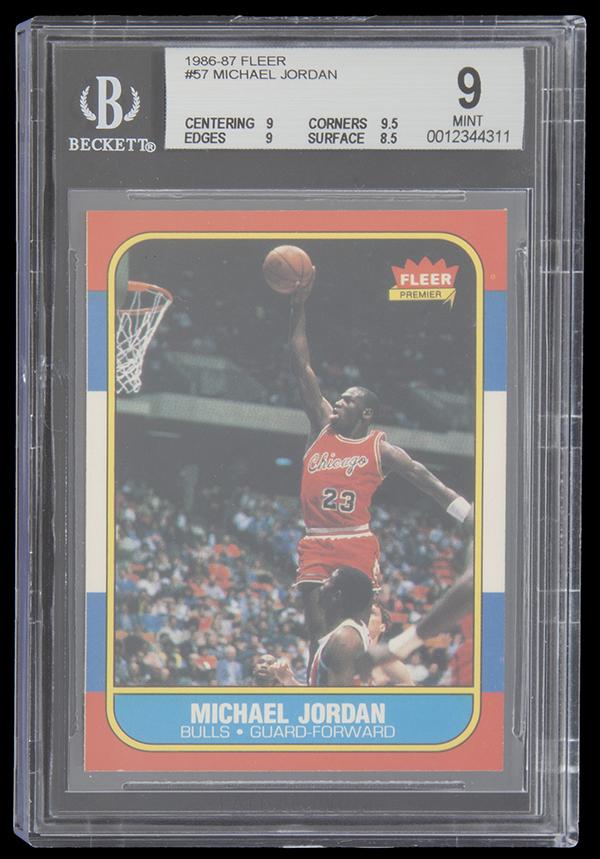 Michael Jordan's 1986-1987 Fleer #57 Basketball Rookie Card