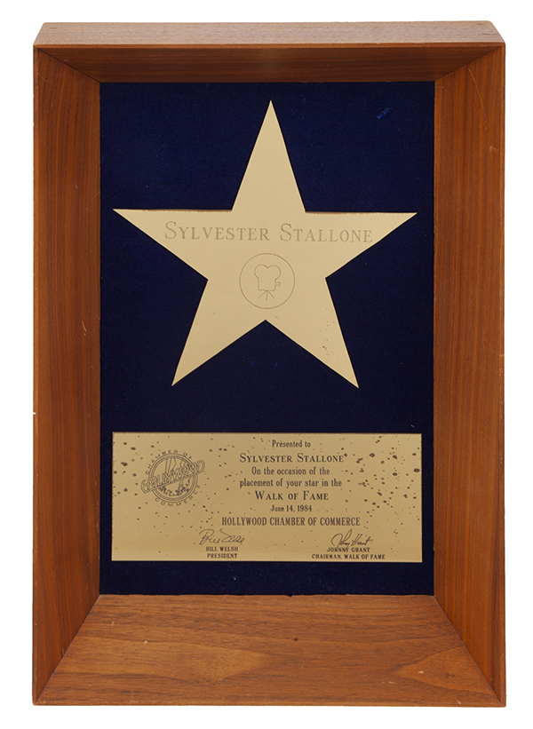 Stallone Hollywood Walk of Fame Award