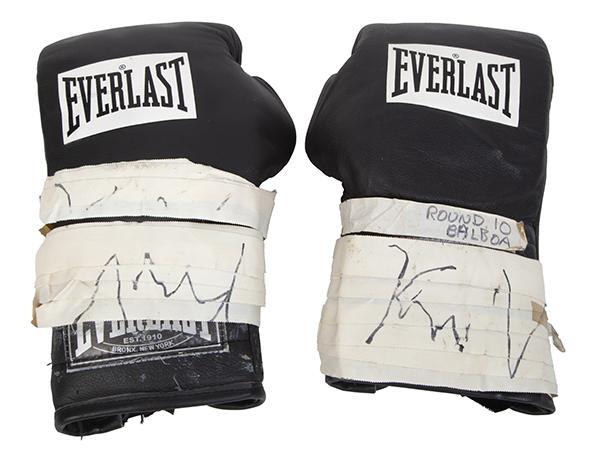 signed Rocky Balboa boxing gloves