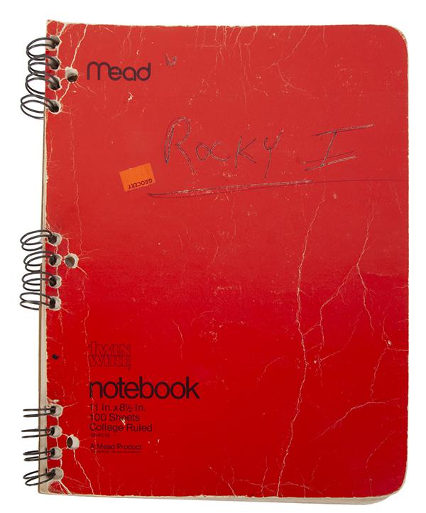Rocky original story development notebook