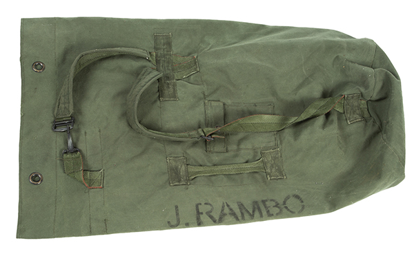 duffel bag used by Stallone as John Rambo