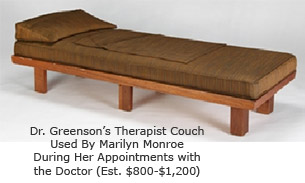 MarilynMonroe's Therapist Couch