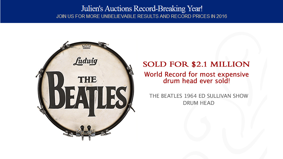 World Record for most expensive drum head ever sold!