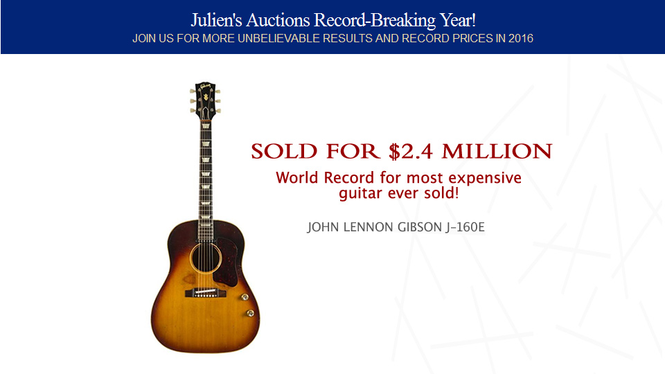 World Record for most expensive guitar ever sold!