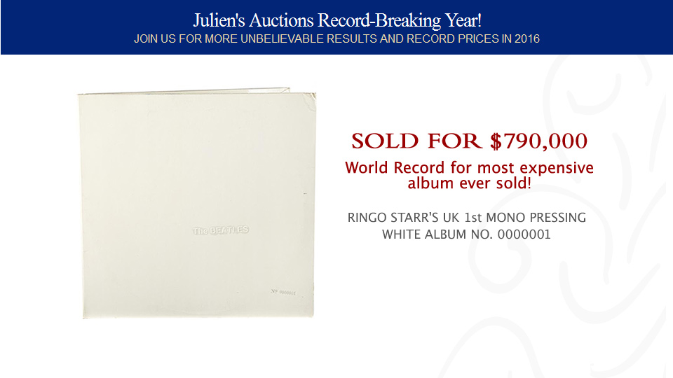 World Record for most expensive album ever sold!