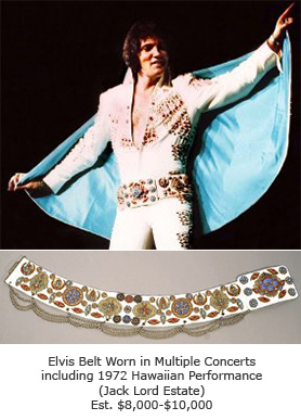 Elvis Belt Worn in Multiple Concerts including 1972 Hawaiian Performance (Jack Lord Estate)