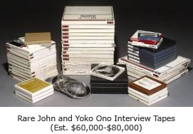 Rare John Lennon and Yoko Ono Interview Tapes