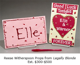 "Reese Witherspoon props from ""Legally Blond"""