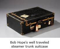 Bob Hope's steamer trunk suitcase