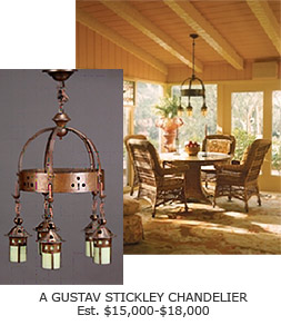 Gustav Stickley Chandelier