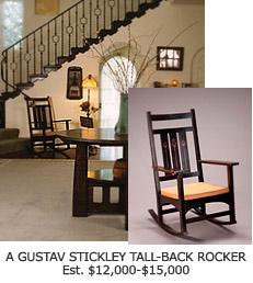 Gustav Stickley Tall-Back Rocker Chair