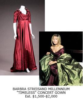 Barbra Streisand's Millenium Timeless Gown