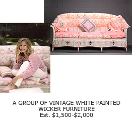 Barbra's Vintage White Wicker Furniture