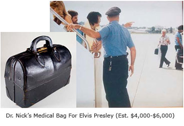 Elvis Presley -- Dr. Nick's black bag