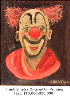 Frank Sinatra clown oil painting