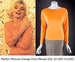 Marilyn Monroe Orange Pucci Blouse