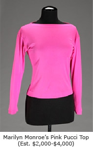 Marilyn Monroe's Pink Pucci Top