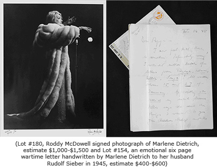 Marlene Dietrich Photo and Letter