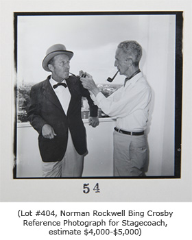 Norman Rockwell Bing Crosby Illustration