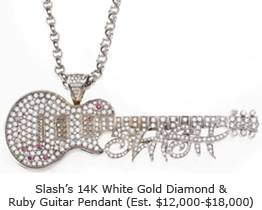 Slash's Diamond and Ruby Guitar Pendant