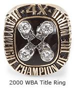 Holyfield 2000 WBA Title Ring