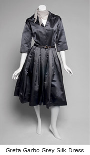 Greta Garbo Gray Silk Dress