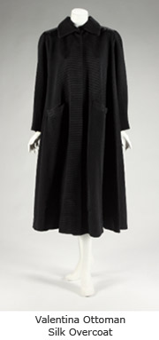 Garbo Valentina Ottoman Silk Overcoat