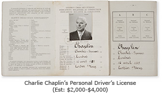 Charlie Chaplin Driver's License
